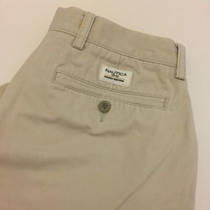 Nautica Clipper Tan Khaki Shorts size 33""